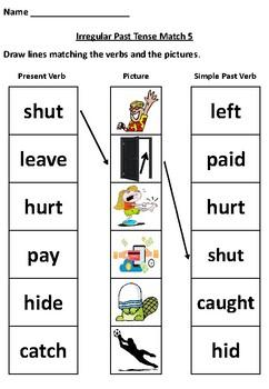 Irregular Past Tense Verbs (Worksheet Pack 5) by SiDash