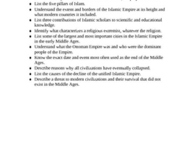 Islam And The Islamic Empire A Study Guide And Final Test