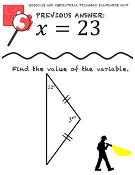 Isosceles and Equilateral Triangle Scavenger Hunt by The