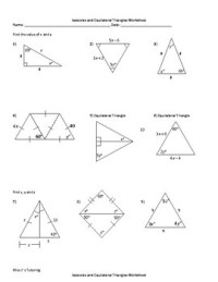 Isosceles and Equilateral Triangles Worksheet by Miss J's ...