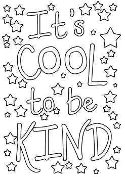 It's Cool to be Kind colouring in / book cover by Is it