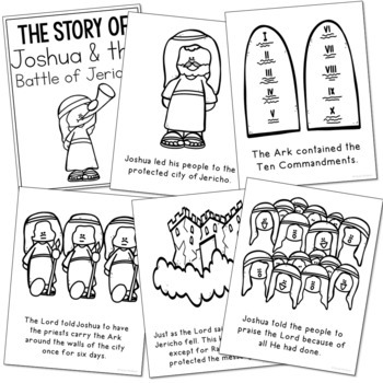 JOSHUA AND THE BATTLE OF JERICHO Bible Story Coloring