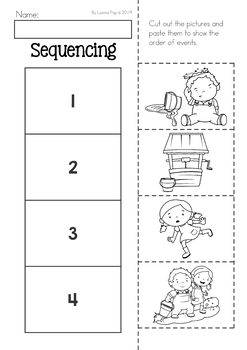 Jack and Jill Nursery Rhyme Worksheets and Activities by
