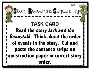 Jack and the Beanstalk Story Retell and Sequencing by