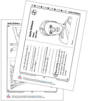 Jackie Robinson Grades K–2 Free Printable by Carson