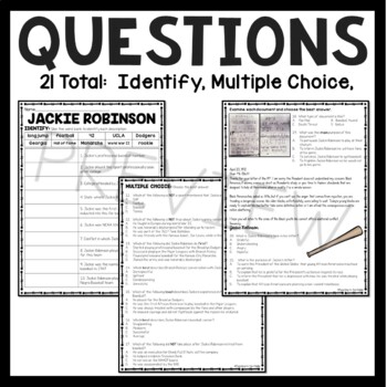 Jackie Robinson Reading Comprehension; Civil Rights