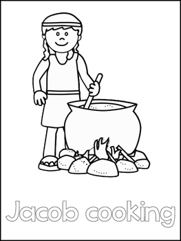 Jacob and Esau Printable Color Sheets. Preschool Bible