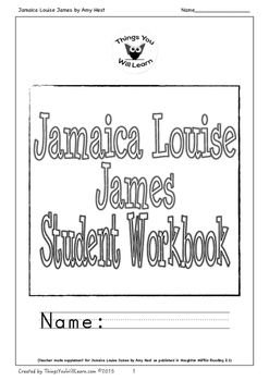 Jamaica Louise James Student Workbook by Things You Will