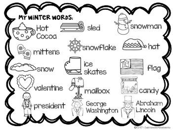 Winter Sentence Builders! by Sweet Sounds of Kindergarten