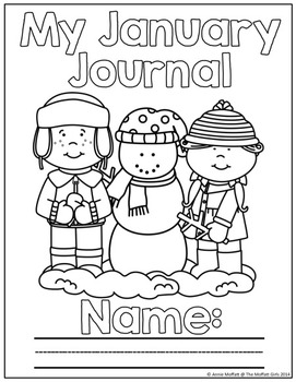 January NO PREP Journal Prompts for Beginning Writers by