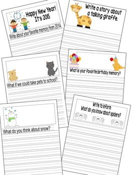 January Writing Journal for 1st and 2nd grade CCSS by