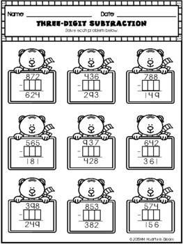 January in Third Grade (NO PREP Math and ELA Packet) by