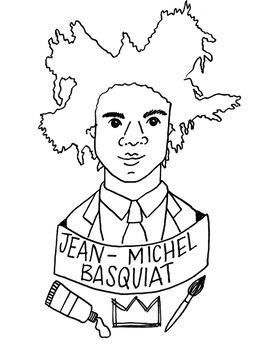 Jean-Michel Basquiat Printable Coloring Sheet/Coloring