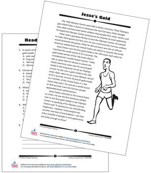 Jesse Owens Grade 8 Free Printable by Carson Dellosa