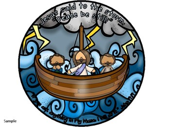 Jesus Calms The Storm Craft And Color Sheet By Jannysue Tpt