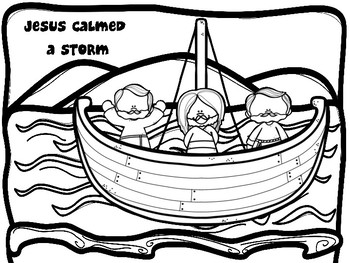 Jesus Calms A Storm Craft With Isaiah 41 10 Fear Not For I Am With You