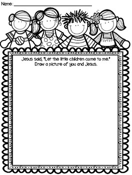 Jesus loves the little children craft and color sheet by