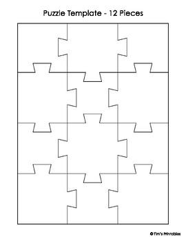 jigsaw puzzle templates pdf