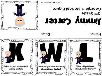 Jimmy Carter KWL Flipbook ~ FREEBIE by Door To Common Core