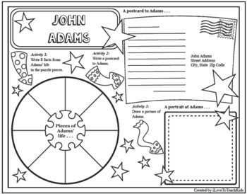 JOHN ADAMS Research Project Timeline Poster Poem Biography