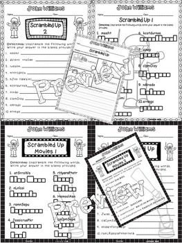 John Williams Critical Thinking Worksheets (Composer of