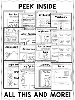 Johnny Appleseed Interactive Notebook Activities by Nicole