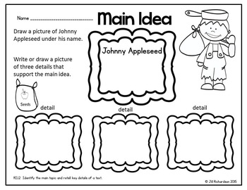 Johnny Appleseed Emergent Reader! Johnny Appleseed
