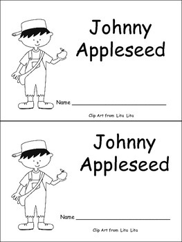 Johnny Appleseed Emergent Reader for Kindergarten