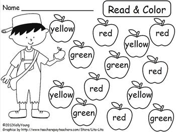 Johnny Appleseed Read & Color, Roll & Cover by Young and