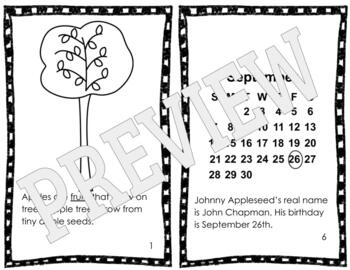 Johnny Appleseed and Apples Reader by Mrs Coker is