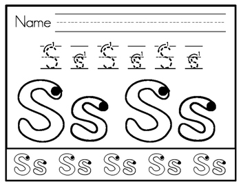 Phonics Related Letter Formation Practice Sheets by Lisa