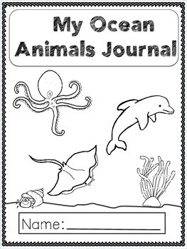 Journal Prompts Ocean Animals For Primary(K-3) by Hearts