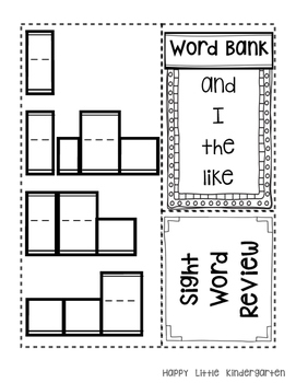 Kindergarten Literacy Interactive Notebook by Happy Little