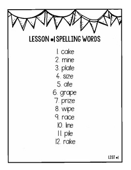 Journeys 3rd Grade Differentiated Spelling Lists by Leslie