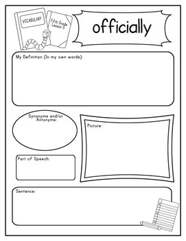 Journeys Fifth Grade Vocabulary Journal Pages Unit 1