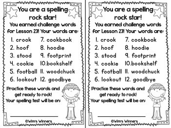 Journeys First Grade Challenge Spelling Words: Unit 5 by