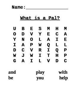 Journeys First Grade Word Search for Lesson 1 What is a