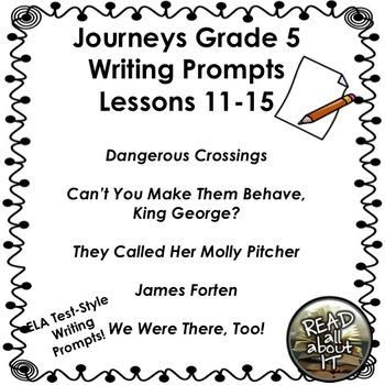 Journeys Grade 5 Unit 3-Lessons 11-15 Writing Bundle by