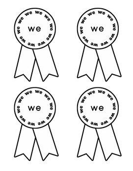 Journeys Kindergarten Sight Words Bundle Unit 1-6 2012