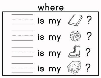 Journeys Kindergarten Sight Words: Lesson 16 Common Core