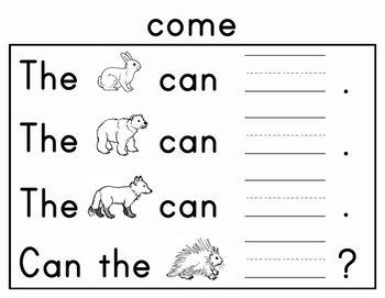 Journeys Kindergarten Sight Words: Unit 3 2012 and 2014