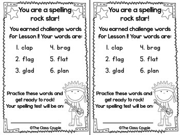Journeys First Grade Challenge Spelling Words: Unit 1 by