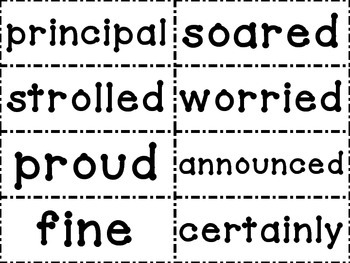 Journeys Third Grade Spelling and Vocabulary Word Wall