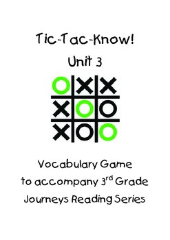 Journeys Third Grade Unit 3 BUNDLE by FUNtastic Teaching