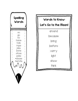 Journeys Unit 4 First Grade Spelling and Words to Know