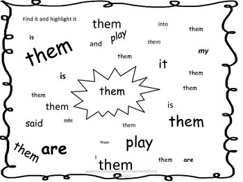 Journeys Unit 5 Kindergarten Sight Word Worksheets by