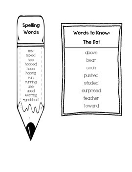 Journeys Unit 6 First Grade Spelling and Words to Know