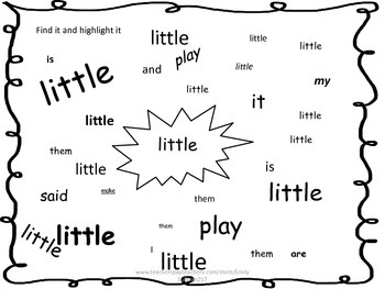 Journeys Unit 6 Kindergarten Sight Word Worksheet Packet