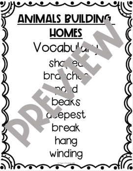 Journeys Vocabulary List Second Grade by Paige's