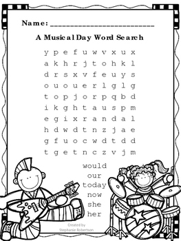 1st Grade Word Searches with Words to Know from the